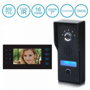 "Vídeo Porteiro C/ Lcd 7"" Cores LEDS Ir Touchpad Cmos 600l - (VD-OWL)"