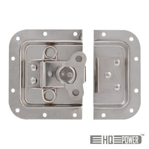 Fechadura P/ Caixa Em Metal Prata 171x126mm HQ POWER - (VDAC12)