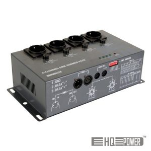 Controlador De Luzes C/ 4 Canais (4x5a) DMX HQ POWER - (VDPDP152)