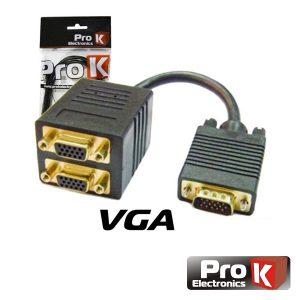 Cabo Profissional VGA M/F/F Dourado PROK - (VGAMFF1)