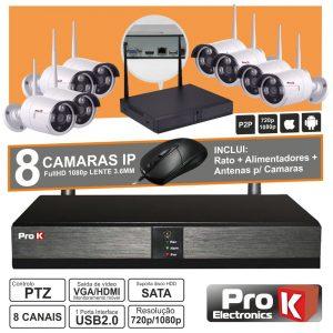 Vídeo-Gravador Digital Ip 8 Canais Wireless Ip66 PROK - (NVRPACK08CW)