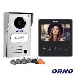"Vídeo Porteiro C/ Lcd 4.3"" Cores LEDS Preto ORNO - (OR-VID-SH-1074)"
