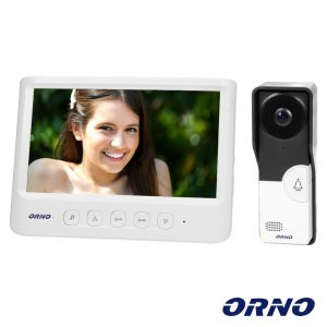 "Vídeo Porteiro C/ Lcd 7"" Cores LEDS IR Branco IMAGO ORNO - (OR-VID-MC-1059/W)"
