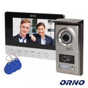 """Vídeo Porteiro C/ Lcd 7"""" Cores LEDS Preto ORNO - (VDP-40)"""