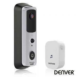 Vídeo Porteiro WiFi C/ Alarme Sensor PIR 720P DENVER - (SHV-120)