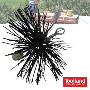 Escova De Limpeza P/ Chaminé 250mm Nylon TOOLLAND - (VK130)