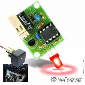 Kit Monitor P/ Bateria De Automóvel 12V  VELLEMAN - (VM189)