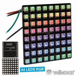 Kit 64 LEDS RGB Matrix VELLEMAN - (VM207)