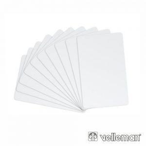 Cartões Identificação Programação Rf 10X VELLEMAN - (VMA417)