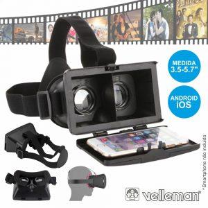Óculos De Realidade Virtual 3d P/ Android E Ios - (VR-GEAR2)