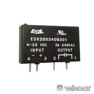 Relé 4-32vdc Interruptor Unipolar 3a/240v Estado Solido - (VR3SS1A)