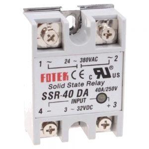Relé 3-32vdc Interruptor Unipolar 40a/380v Sólido - (VR40SS380V)