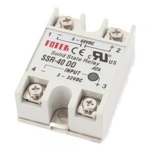 Relé 3-32vdc Interruptor Unipolar 40a/60v Sólido - (VR40SS60V)