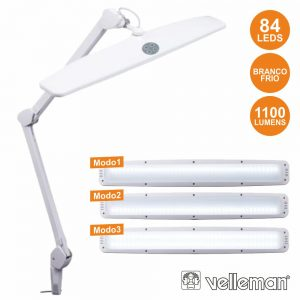 Candeeiro 84 LEDS Luminusidade Regulável P/ Bancada VELLEMAN - (VTLLAMP17)