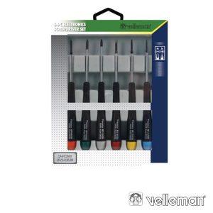 Conjunto De 6 Chaves 4 Fendas + 2 Philips VELLEMAN - (VTSET29)