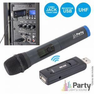 Microfone S/ Fios Uhf C/ Receptor USB PARTY - (WM-USB)