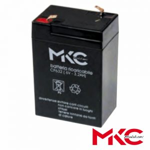 Bateria Chumbo 6V 3.2A MKC - (WN06-3