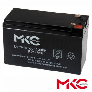 Bateria Chumbo 12V 7A MKC - (WN12-7)