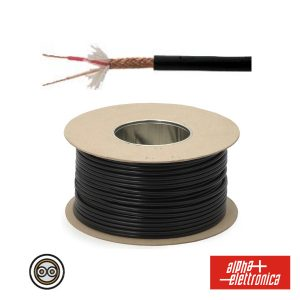 Cabo Microfone 2 Condutores + Malha 2x0.25mm Ø5.5mm Preto - (WTR84)