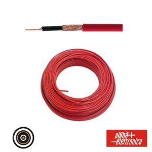 Cabo Microfone 4mm Baixo Ruído Blindado Vermelho - (WTR90)