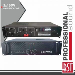 Amplificador Áudio Pro 2x180W Saída Link 4/8 Ohms BST - (XA400)