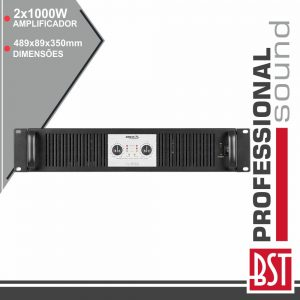 Amplificador Áudio Pro 2x1000W Smps 2/4/8 Ohms BST - (XL1500)