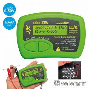 Testador De Diodos Zener 0-50v VELLEMAN - (ZEN50)